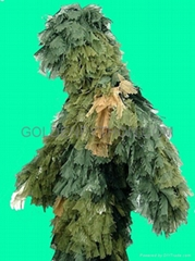 GP-GS001 Ultra Light Ghillie Suit Leaves Leaf Camo Woodland