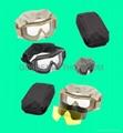 GP-MS002-1 No-fog Military Tactical Goggles w/3 Lens