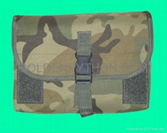 GP-TH306C Woodland Camouflage MOLLE Gas Mask/Drum Magazine Pouch