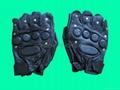 GP-TG008 SWAT HALF Finger Supple Leather Combat Gloves