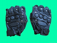 GP-TG008 SWAT HALF Finger Supple Leather Combat Gloves