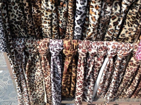 short plush fabric shearing flannel leopard leopard print stamp toy fabric 5