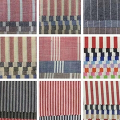 Yarn dyed cotton fabric cowboy stripe shirt fabric