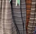 Rib knitted jacquard fabric
