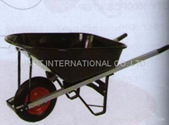 steel tray wheelbarrow WB6012 with single rubber wheel