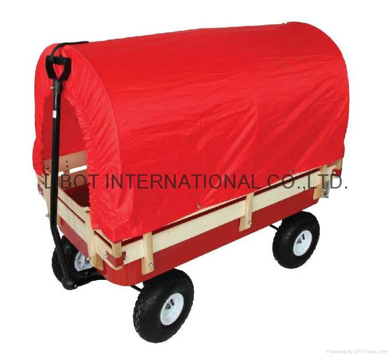 Hard Wood Garden Cart TC4201B with tent 1