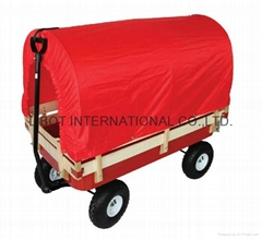 Hard Wood Garden Cart TC4201B with tent