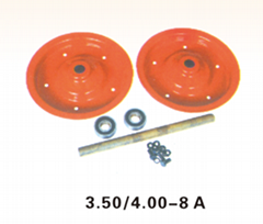 3.50/4.00-8A rim&axle powder coated surface