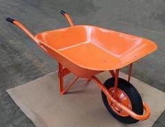 steel wheelbarrow 65L with straight handle