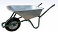 85L wheelbarrow with galvanized tray and