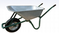 85L wheelbarrow with galvanized tray
