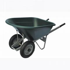 Simple Heavy Duty Construction PP Tray Wheelbarrow WB1009 for Garden