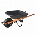 4CBF HARD WOOD HANDLE STEEL TRAY WHEELBARROW WH4000