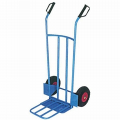 200KG FOLDING PLATE HANDTROLLEY HT1893 with Rubber Air Wheel