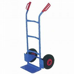 120KG LOAD CAPACITY HANDTRUCK HT2500 WITH RUBBER PNEUMATIC WHEEL