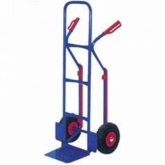 120KG HAND TRUCK HT2500AC WITH 300-4INCH RUBBER PNEUMATIC WHEEL