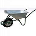 Garden Tools 85L wheelbarrow WB6414 with galvanized tray and rubber air wheel