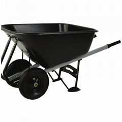 TWIN WHEEL 10CUFT WHEELBARROW WB1002P
