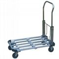 "100kg Alum Platform Handtruck PH153 With 4""castor"