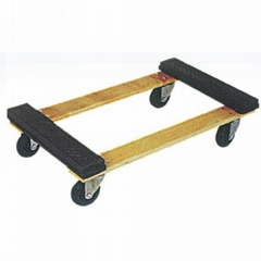 """300kg Wooden Dolly TC0508 with rubber protection and 4""""castor"""
