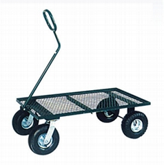 Garden Mesh Cart TC1804 with Rubber Air Wheel