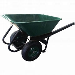 GARDEN TOOLS HEAVY DUTY 10CBF WHEELBARROW WB1500 WITH TWO RUBBER AIR WHEEL