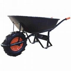 Garen South America Style 6CBF wheelbarrow WB9000-1 with rubber pneumatic wheel
