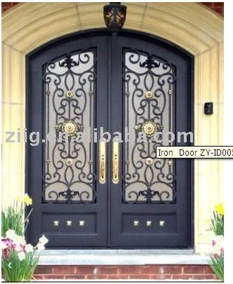 Wrought Iron Double Door 1