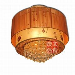 中式羊皮水晶吊燈