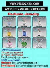 Perfume vial necklace