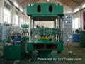 青島全自動四立柱平板硫化機