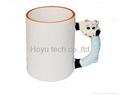 coated mugs /caps with cartoon animal handle(لیوان با روکش حیوانات کارتونی دسته)