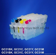 refillable ink cartridges with chip for Ricoh GX7000/3000 printer