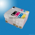 T2521 T2522 T2523 T2524 Empty Refillable Ink Cartridge With Chip For Epson WorkF