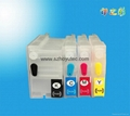 Ink cartridge for  T120 T520 refillable ink cartridge for hp cartridge T120  1