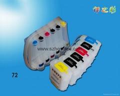 HP惠普T610供墨系统72号墨盒T1100 填充墨盒连供墨盒带芯片