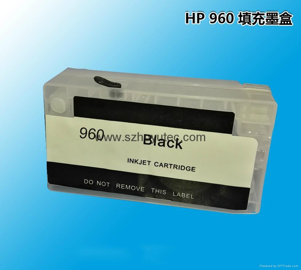 兼容惠普HP Pro 3610 3620 打印机墨盒 960 填充墨盒连供墨盒 1