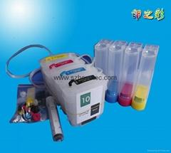 HP 10 82 惠普500 HP800供墨连供系统填充墨盒带永久芯片