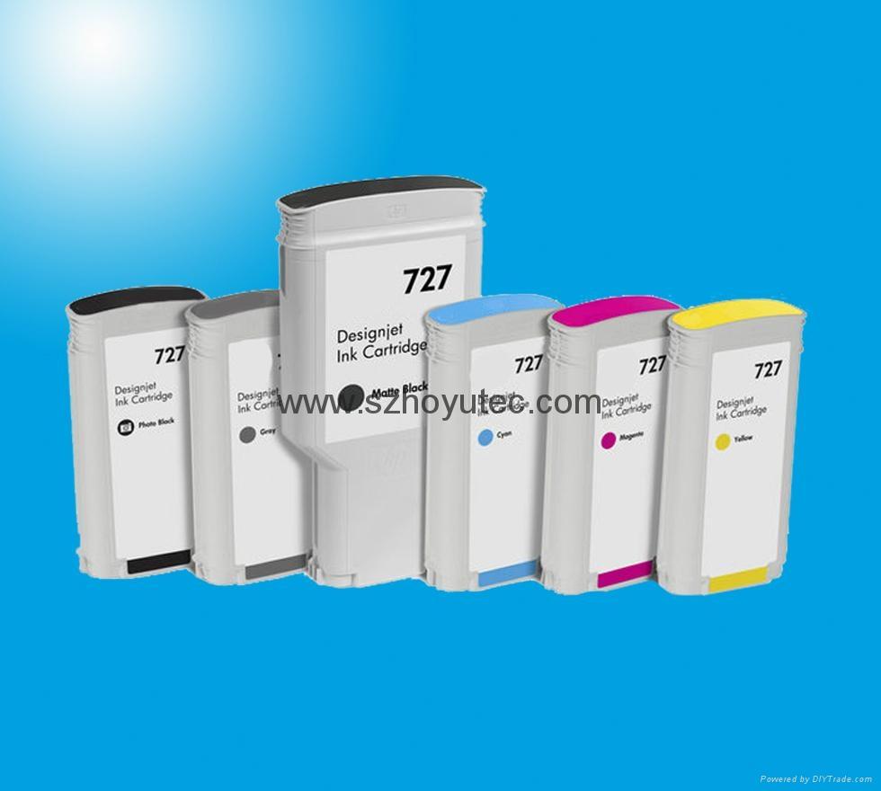 727 Ink Cartridge Full With Ink For HP T920 T1500 T2500 T930 T1530 T2530 Printer