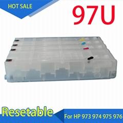 适用 惠普HP452 452DW 452DN 打印机填充墨盒 HP975连供填充墨盒