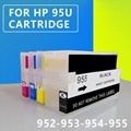 refillable 952 For HP Ink Cartridge For HP Officejet Pro 7740 8210 8216 8702 871 5