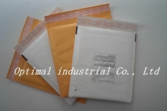 Self Adhensive Hot Yellow Kraft Bubble Envelope with Bubble Lining