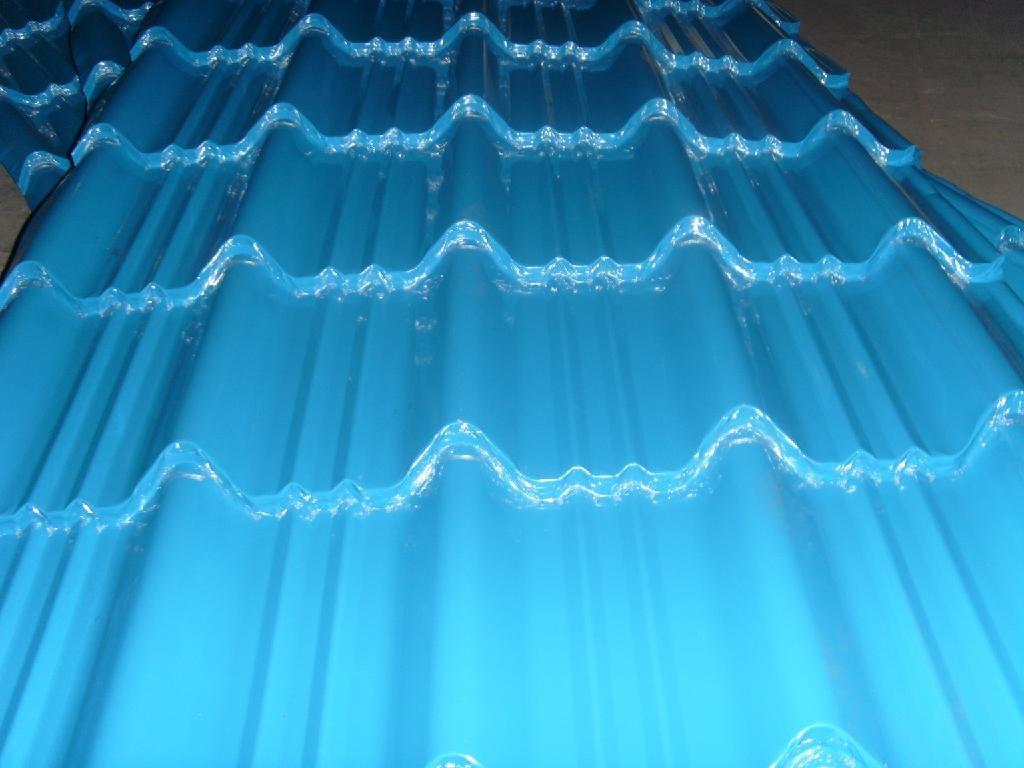 供應浙江765型筒狀仿古彩鋼琉璃瓦 3