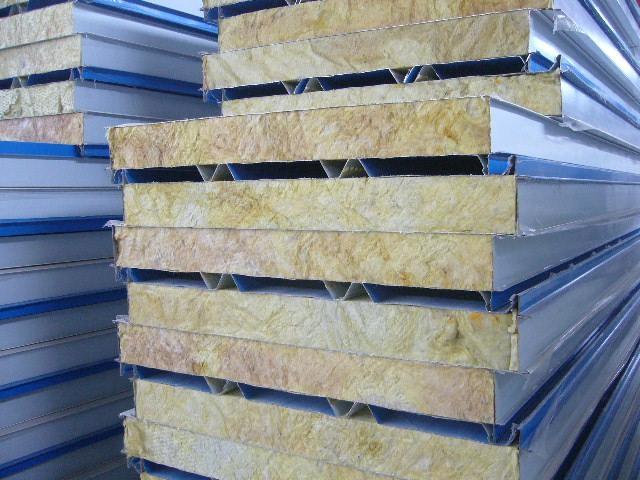 杭州950型彩鋼岩棉復合夾芯板生產廠家直供 2
