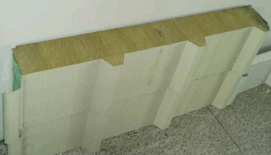 杭州950型彩鋼岩棉復合夾芯板生產廠家直供 3