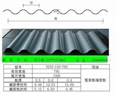 YX32-130-780型彩钢波浪铝镁锰合金压型板