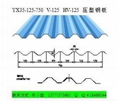 浙江彩鋼瓦廠家YX35-125-750牆面橫裝板