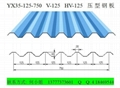 浙江彩钢瓦厂家YX35-125-750墙面横装板 3