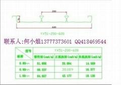 闭口式楼面钢承板YXB51-200-600型压型板生产厂家