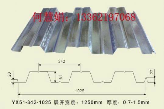开口式楼承板YX130-300-600型屋面板 4